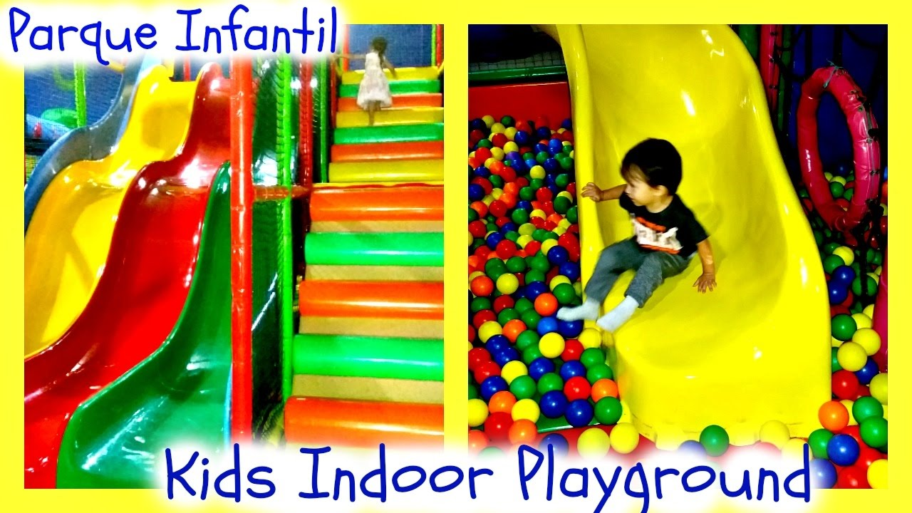 Ninos Jugando En El Parque Infantil Kids Playing Fun Indoor