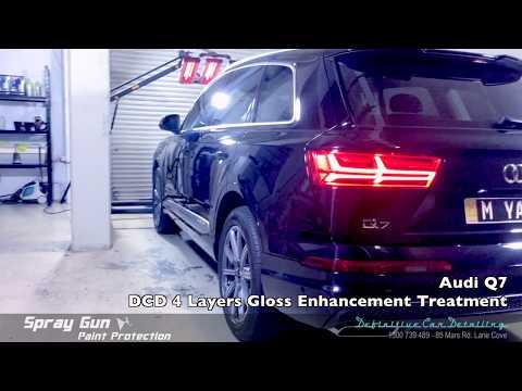Audi Q7 Mythos Black Definitive Sydney Spray Gun 4 Layers Paint Protection Gloss Enhancement Treatme