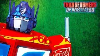 ТРАНСФОРМЕРЫ #2 Игра мультик для детей про роботов АВТОБОТОВ. Transformers Devastation