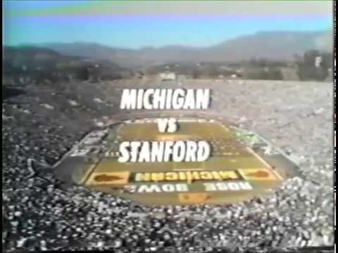 1972 Rose Bowl Michigan vs Stanford No Huddle