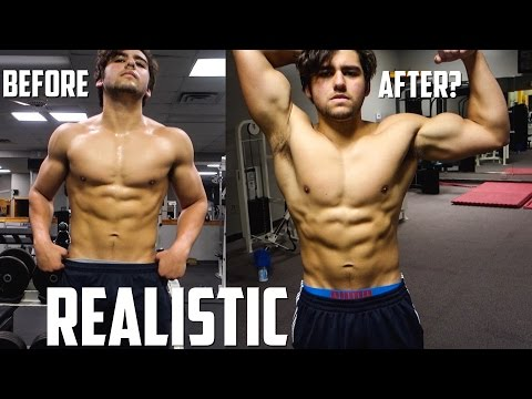 My Physique Before & After The 10,000 Calorie Challenge