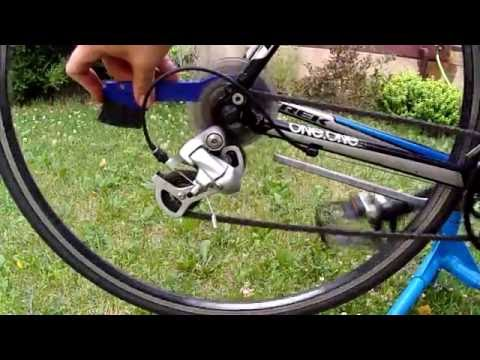 Cleaning Bicycle Chain Using Park Tool Chain Scrubber.