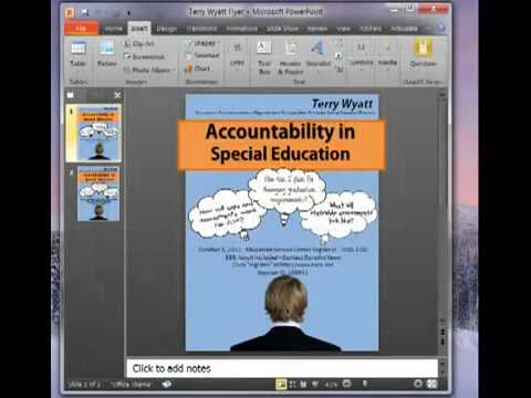 How to Create a Flyer using Power Point   YouTube How to Create a Flyer using Power Point