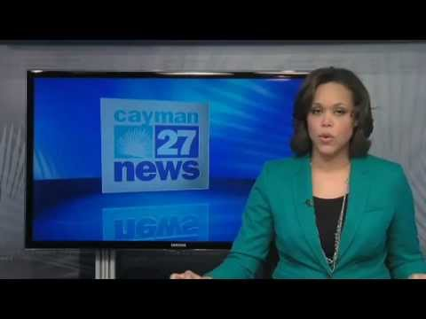 Breaking news on Caymans national TV, Cayman 27 for Loophole4All.com - Paolo Cirio art