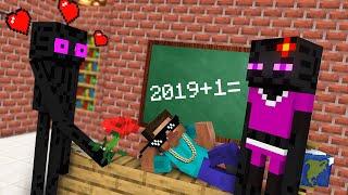 Monster School : ENDERMAN LOVE STORY Challenge - Minecraft Animation