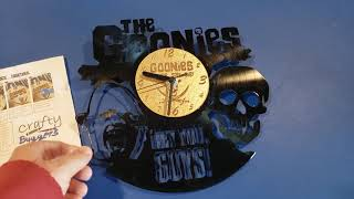 My GOONIES Collection #42 - Vinyl Record Wall Clock (Upcycled!!!!)