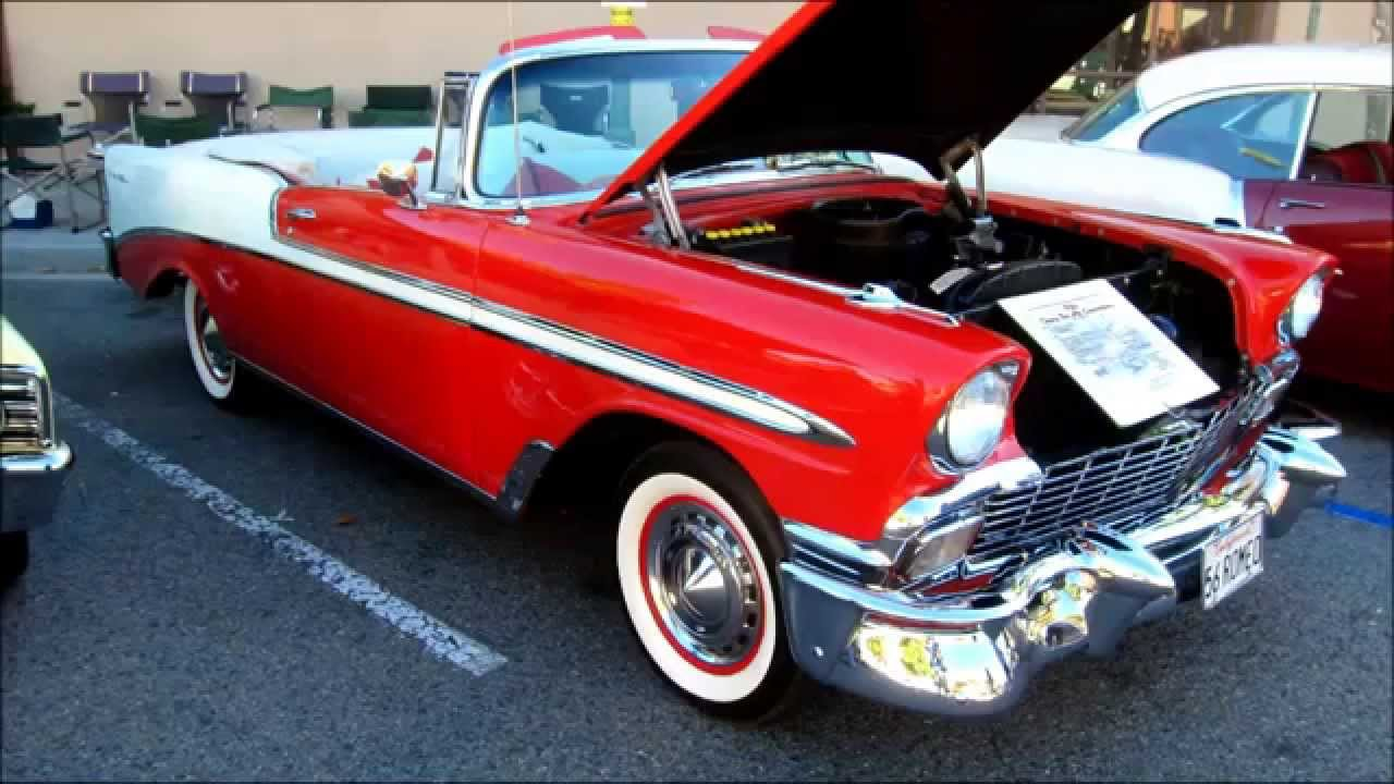 Convertible 1956 chevy bel air convertible : Awesome 1956 Chevy Bel Air convertible - YouTube