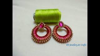 DIY Chandbali Earring//How to make Silk thread Chandbali Earring at home.