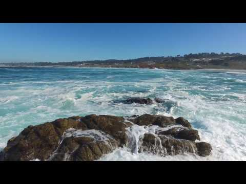 Monterey Bay To Carmel Beach, California Jan. 2017 4K