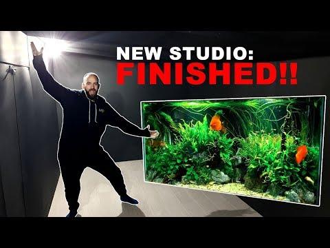 NEW STUDIO FINISHED!! + Discus Community Aquarium | MD FISH TANKS