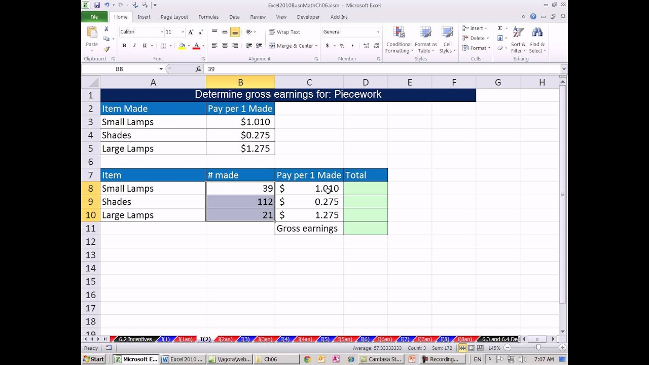 how to calculate gross pay in excel 2010 calculating gross pay youtubeexcel 2013 tutorial how. Black Bedroom Furniture Sets. Home Design Ideas