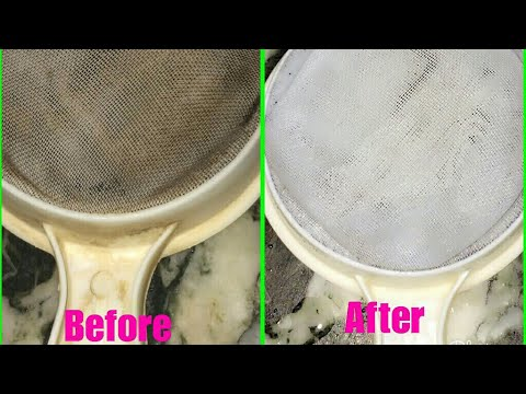 छननी की सफ़ाई | how to clean plastic sieve | plastic Channi Kaise saaf karein