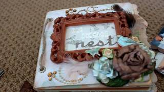 baby shower scrapbooking mini album our growing nest