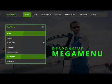Creative & Responsive Navigation Bar With Megamenu - HTML & CSS
