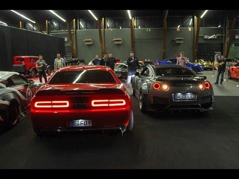 REV BATTLE - Prior 1600HP Nissan Gtr vs. Prior 900HP Dodge Challenger SRT Hellcat
