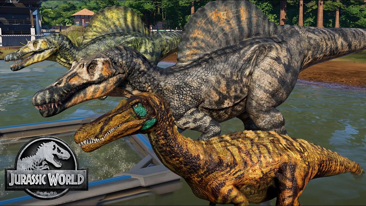 2 Baryonyx 2 Spinosaurus Breakout Fight Jurassic World Evolution Mods 4k 60fps Youtube Evolution mod will give players a chance to chance the skin texture of their newly released dinosaurs. 2 baryonyx 2 spinosaurus breakout fight jurassic world evolution mods 4k 60fps