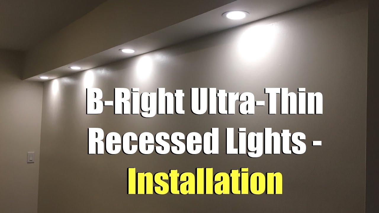 b bight ultra thin recessed lights installation