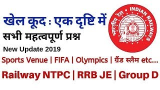 Sports 2018-19   Venue   FIFA World Cup   Olympic   Grand Slam   Railway NTPC   Group D 2019