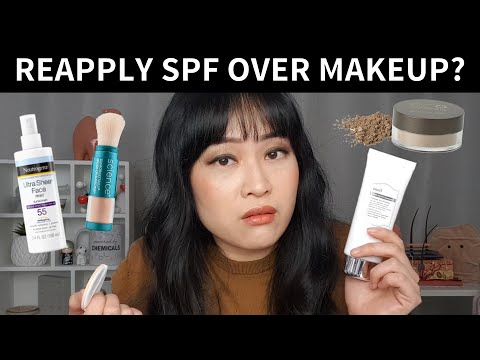 How to Reapply Sunscreen Over Makeup | Lab Muffin Beauty Science - YouTube