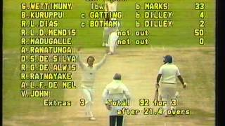 Sri Lanka (bat), v England, Taunton 1983 (CWC)