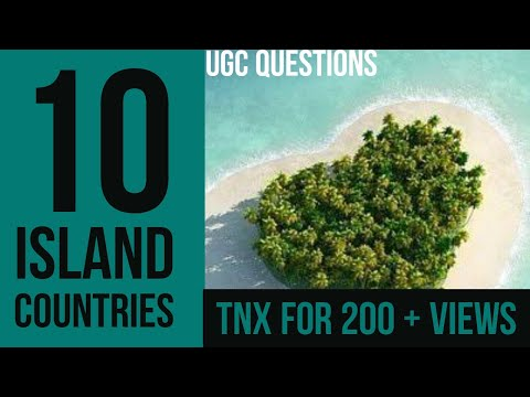 10 Largest Island Countries in the World | largest island nations | Geography Optionals | UGC NET |