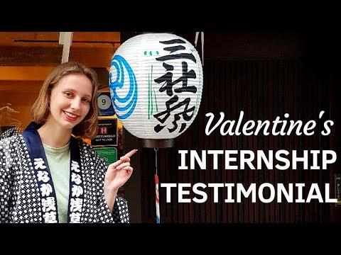 Hotel & Tourism Internship in Tokyo - Valentine's Testimonial