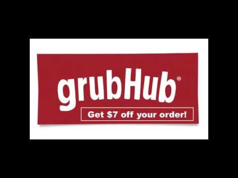GrubHub Get $7 OFF $15+ New Customers Only Coupon Code Discount 2017 Promo Grubhub.com Food Deal App