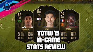 STRIKER SON! TEAM OF THE WEEK 15 - IN-GAME STATS REVIEW - FIFA 19 ULTIMATE TEAM