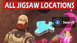 *ALL LOCATIONS * Search Jigsaw Puzzle Pieces in Basements! Fortnite Week 10 Challenges