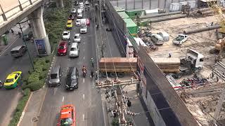 A busy construction site in Bangkok.