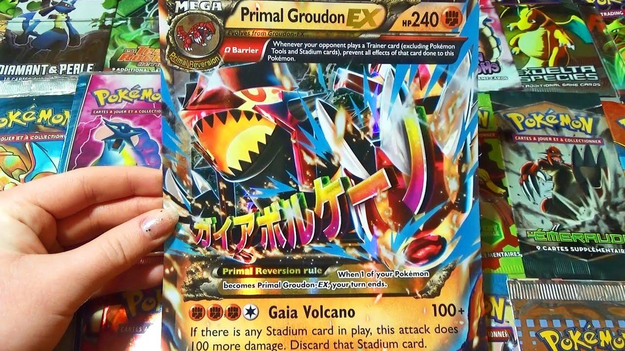 Ouverture Du Coffret Pokemon Hoenn Collection Primo Groudon Mega
