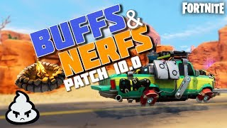 BUFFS and NERFS Patch 10.0 at Fortnite Save the world! Ninjas, bonfire DESBUGADA, New META and more!