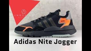 meet 0d0bd c2b83 Adidas Nite Jogger  Core Blk Carbon Active Blue    UNBOXING   ON