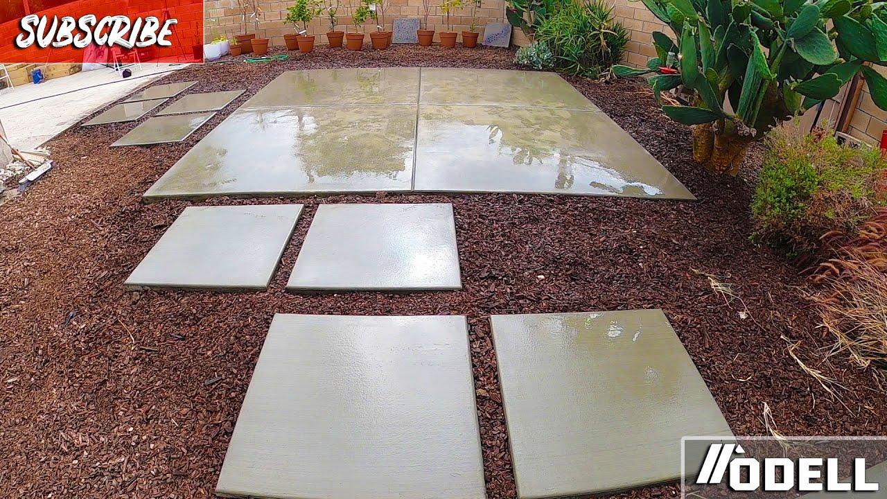 Concrete Patio for Pergolas with Concrete Pavers DIY