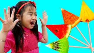The Fruit Colors Song | Jannie Pretend Play Sing-Along Nursery Rhymes & Kids Songs | Toys and Colors