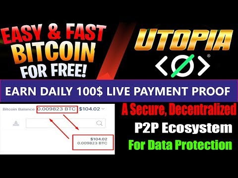 Earn Free Bitcoin  Daily | Live Withdrawal Proof | Utopia Decentralized  Ecosystem | HINDI