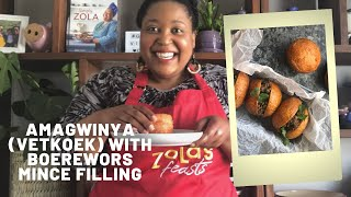 Amagwinya [Vetkoek] & Spiced Boerewors Mince Recipe