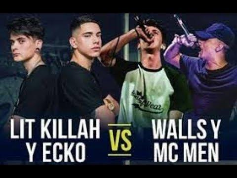 LIT KILLAH Y ECKO VS MC MEN WALLS| FLOW Y PUNCHLINE CONTRA ARGENTINA|RAP FREESTYLE