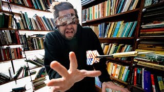 Throwing darts in a public library (Blindfolded)