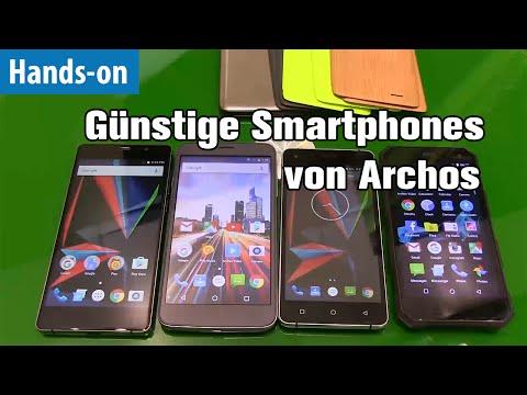 Vier Smartphones von Archos im Hands-on von mobiwatch | IFA 2016 | Kurz-Test | deutsch / german