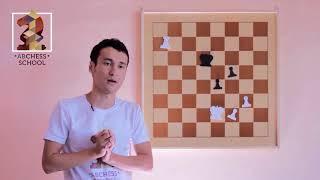 Онлайн уроки по шахматам - сквозной удар