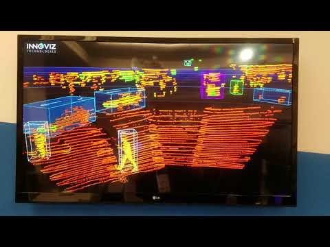 Innoviz Technologies - Object tracking demo - CES 2018 - InnovizOne - solid state lidar