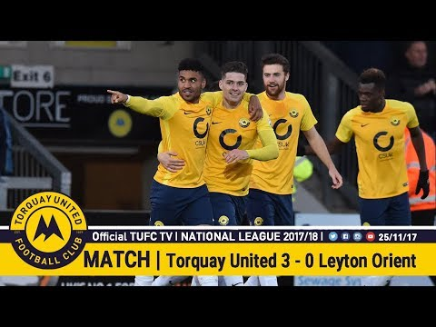 Official TUFC TV | Torquay United 3 - 0 Leyton Orient 25/11/17