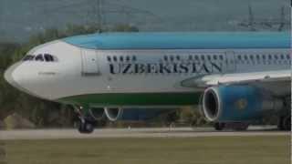 Узбекские авиалинии   Uzbekiston airways(Большая благодарность авторам видео и лётному составу Узбекского авиаотряда !, 2012-10-14T18:47:06.000Z)