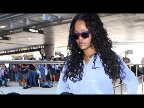 Pop Icon Rihanna The Center Of Attention At LAX