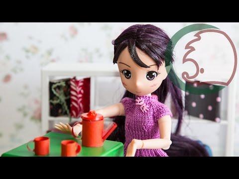 Cмотреть видео Как сделать чайник и чашки для кукол. How to make a teapot and a cup for a doll.