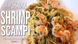 Best Old School (but effing amazing) Shrimp Scampi
