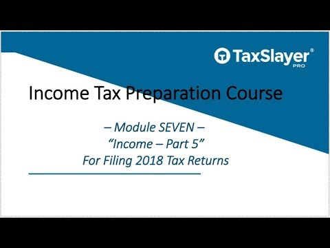 2018 Income Tax Course – Module Seven – Income (Part 5)