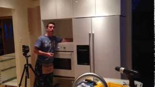 IKEA Akurum tall cabinet installation with Nutid microwave and oven