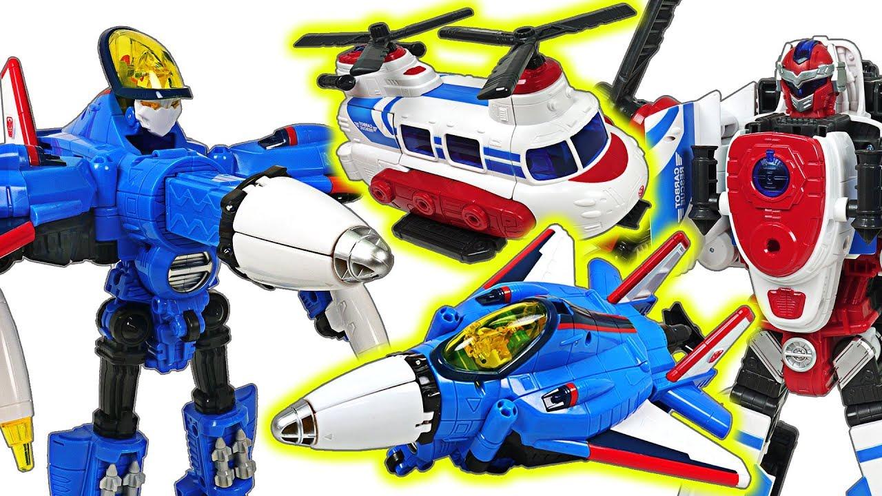 Hello Carbot combat plane trasnform Starpinner, rescue bot Inook! Defeat the dragon! - DuDuPopTOY